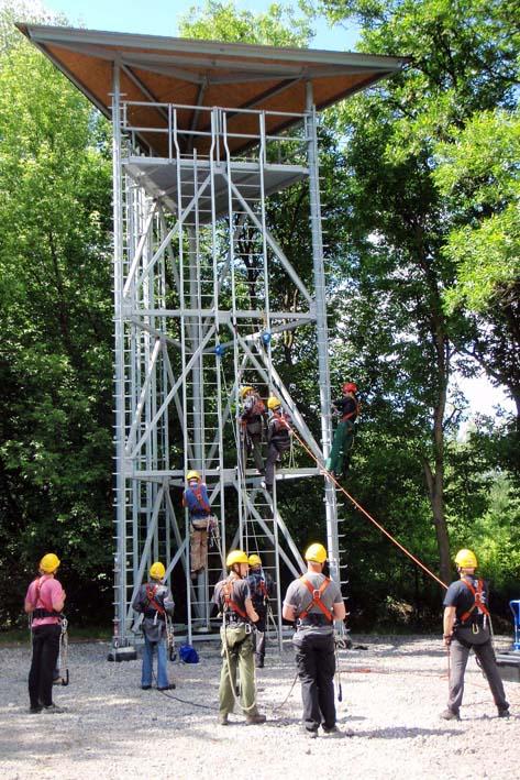 poligon szkoleniowy - wieża treningowa w oddziale w dąbrowie górniczej